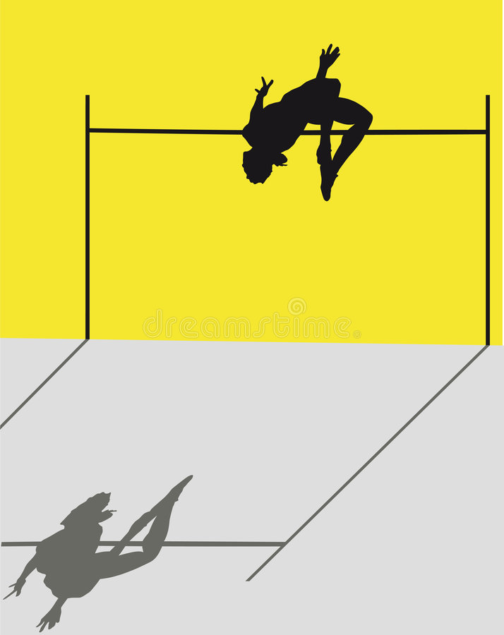 Download High jump stock vector. Illustration of silhouette, high - 5751356