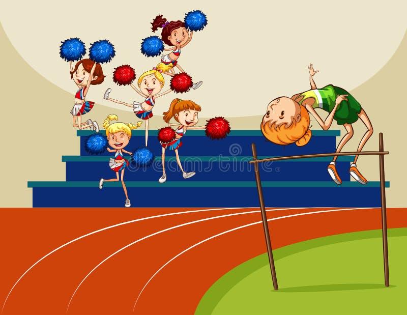 High jump stock illustration