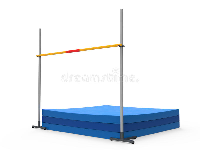 High Jump Landing Mat. Isolated on white background. 3D render vector illustration