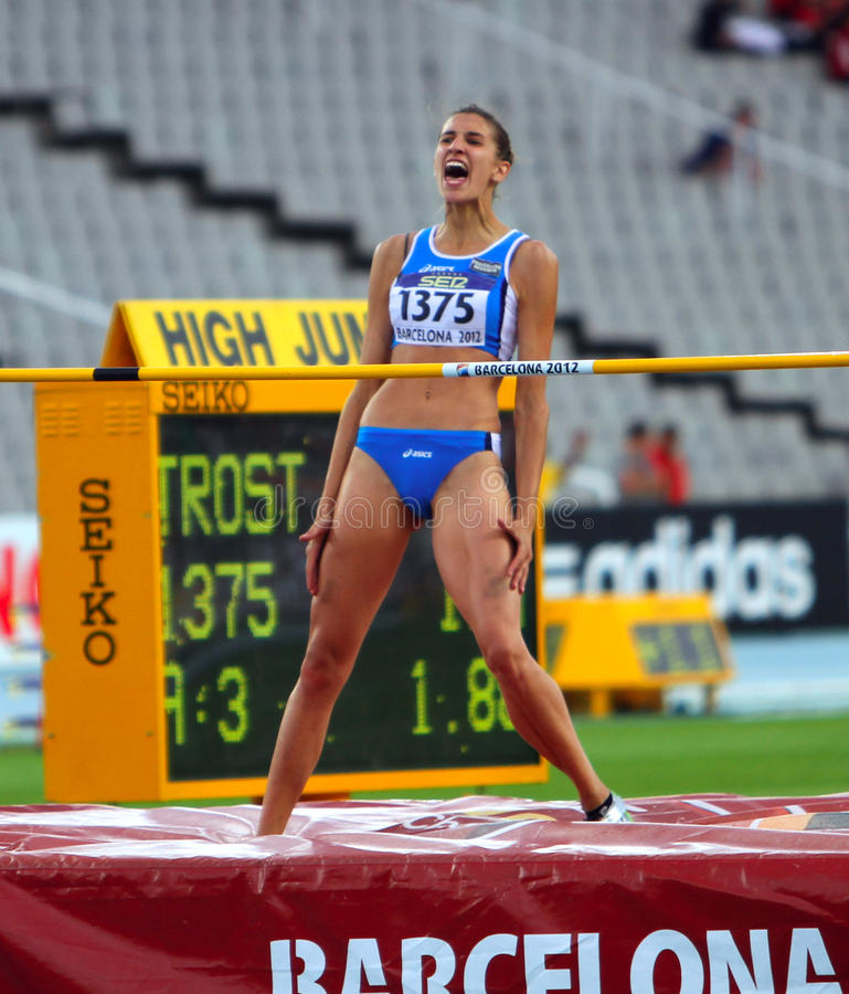 Download High Jumper Alessia Trost From Italy Win High Jump Editorial Photo - Image: 25900096