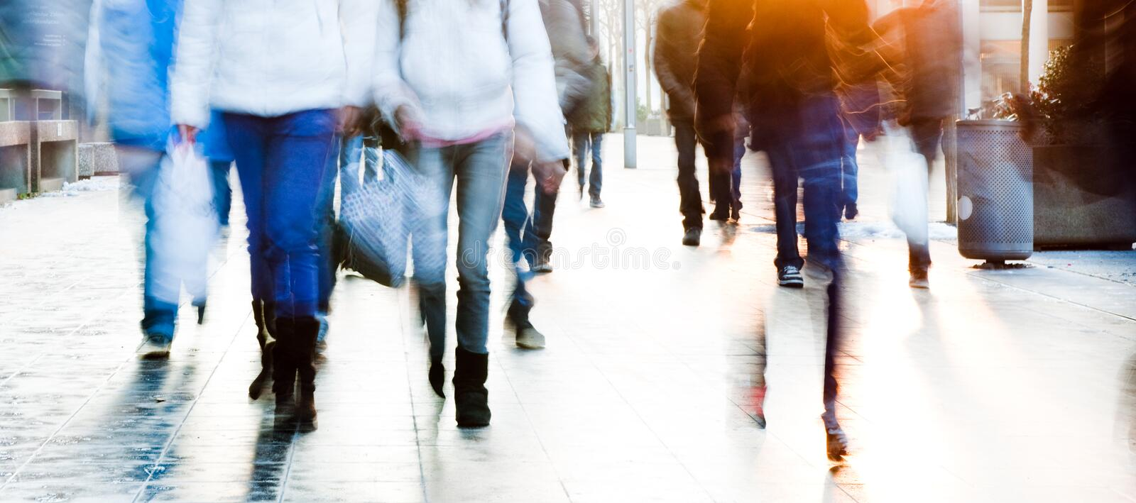 High Key School students. High key image of a group of high school students walking towards the camera stock photos