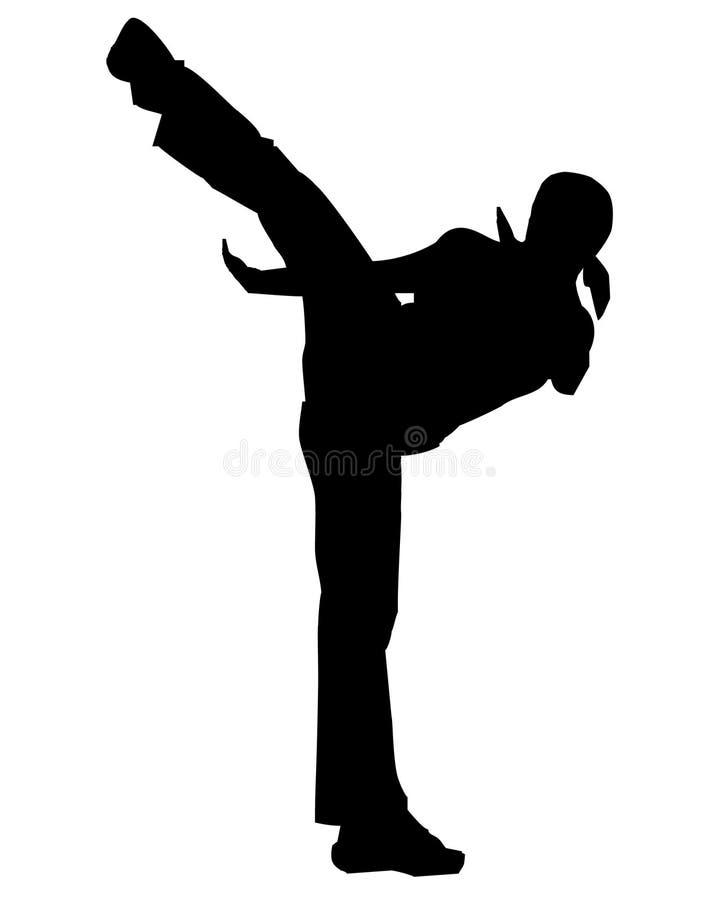 High Kick vector illustration