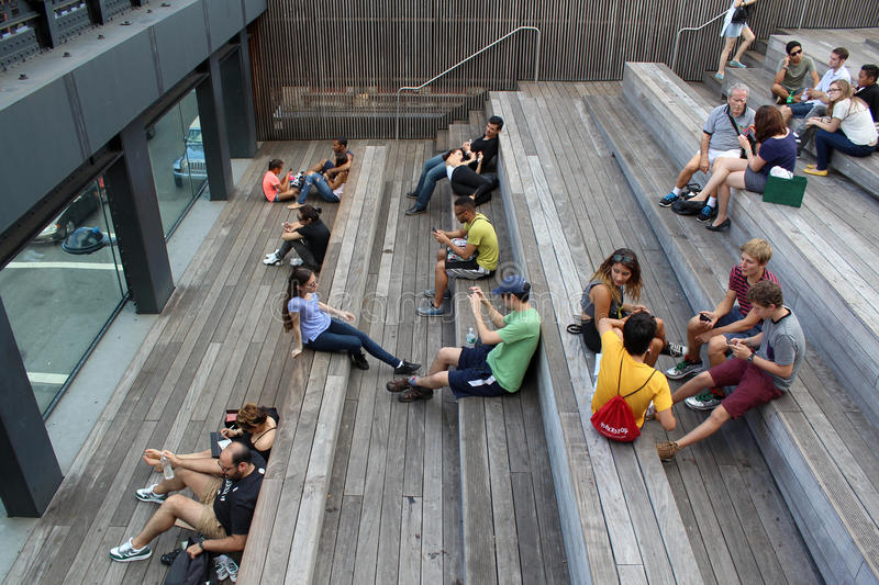 High Line. New York City. Elevated pedestrian Park stock photography