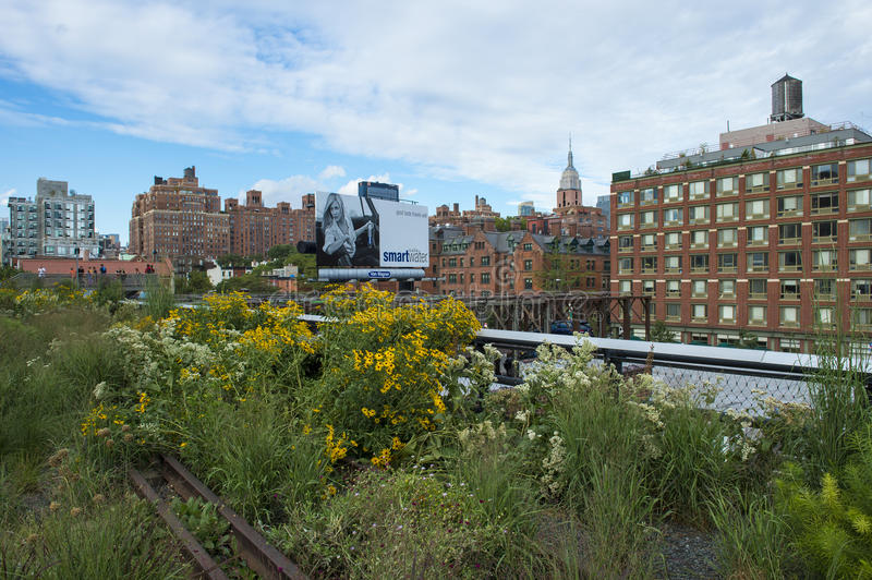 High line park in New York stock image