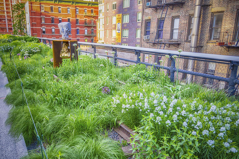 Download High Line Park, New York stock image. Image of building - 33042965