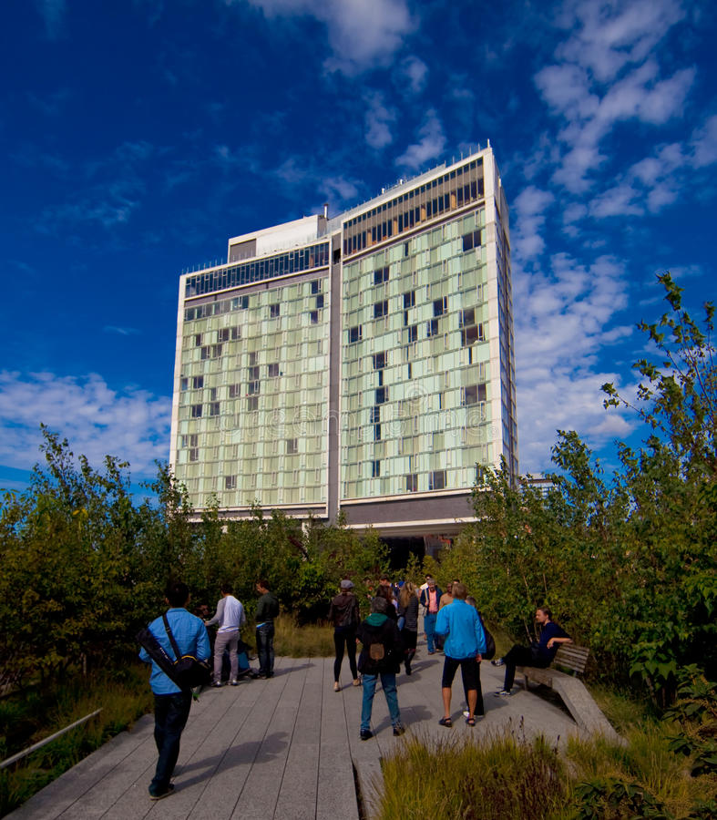 The High Line Park In New York City Editorial Stock Image