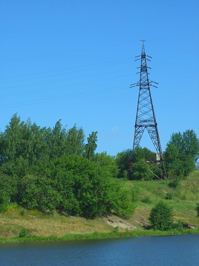 high lines power voltage стоковое изображение