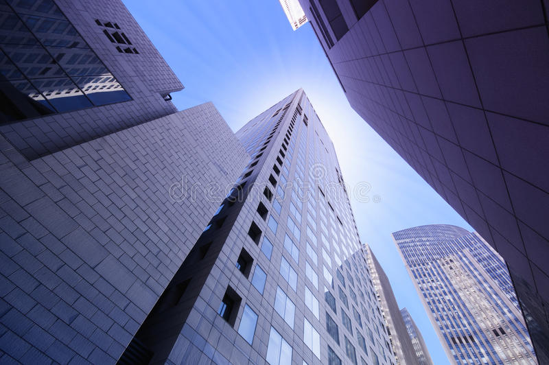 High modern buildings. In Beijing royalty free stock photography