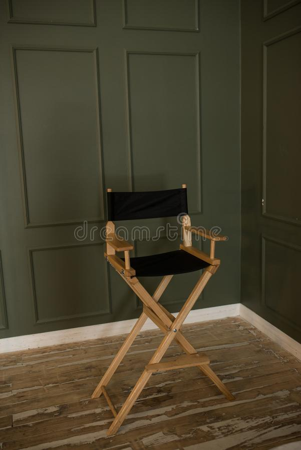 Download High Modern Chair On A Green Background. High Director Chair Bar  Stool On White