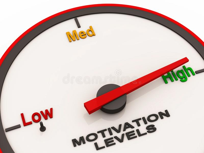 High motivation level royalty free illustration