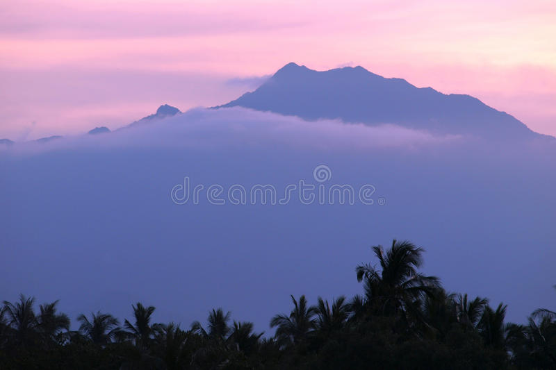 High mountain. In the cloud royalty free stock images