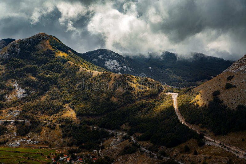 High mountain at cloudy daytime. Beautiful nature landscape stock image