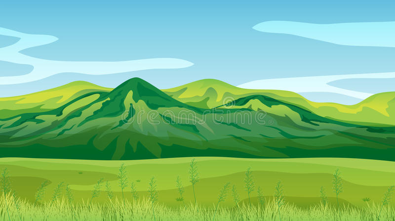 High mountains royalty free illustration