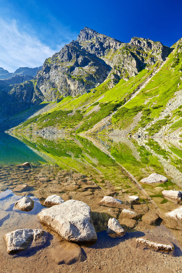 Free High Mountains Landscape Nature Lake Water Carpathians Blue Sky Royalty Free Stock Photo - 58463485