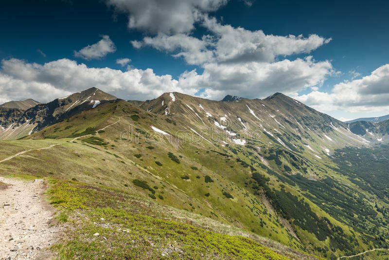 High mountains peaks in Tatra National Park. In POland at summer royalty free stock photo