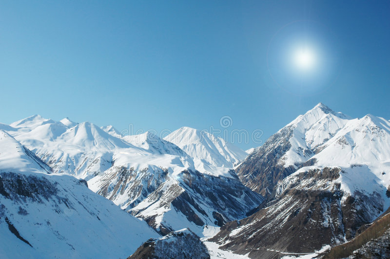 Download High mountains under snow stock photo. Image of skiing - 7905388