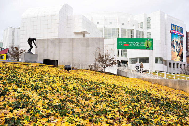 High Museum of art in midtown Atlanta, USA. ATLANTA - DECEMBER 13: High Museum of art in midtown Atlanta, USA, on December 13, 2013. Located on Peachtree Street royalty free stock photo