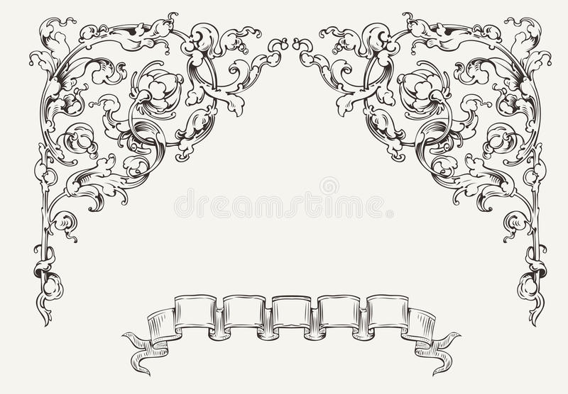 Download High Ornate Angles And Banner Stock Vector - Image: 33676510