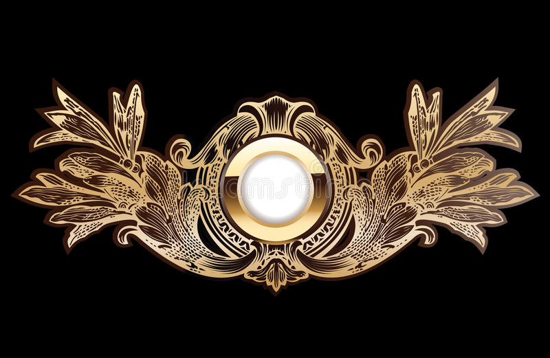 Download High Ornate Gold Ring stock vector. Image of decor, antique - 14743854
