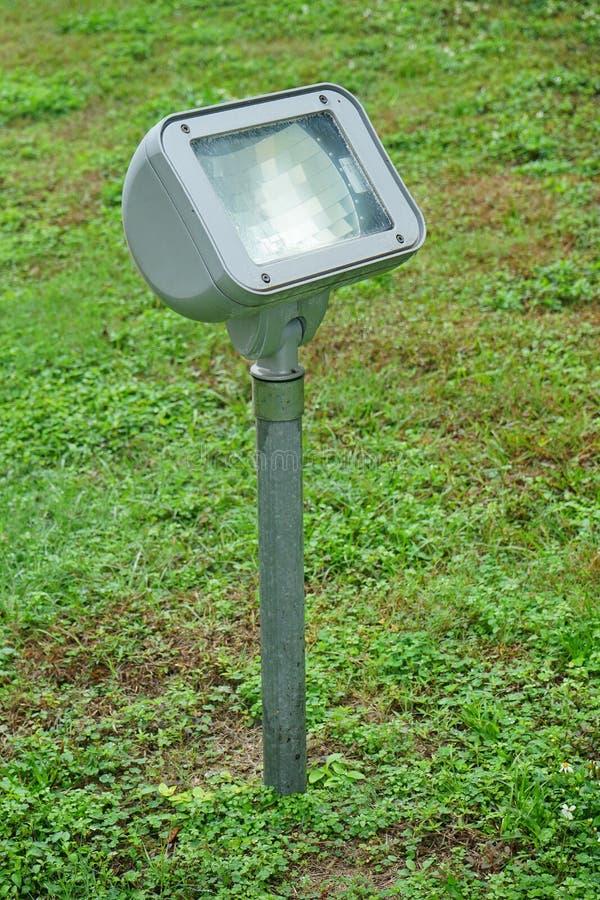 High output fluorescent light on grassland. Taken in florida royalty free stock photo