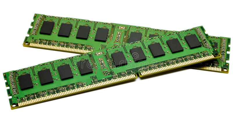 High performance DDR3 ECC computer memory royalty free stock images