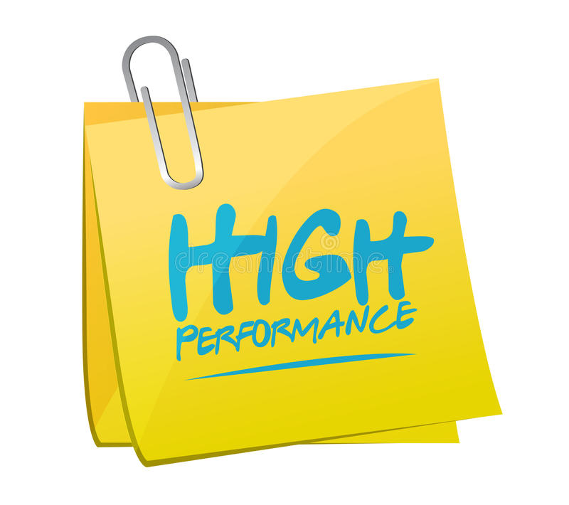 High performance memo post illustration. Design over a white background vector illustration