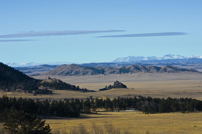 High plains between ranges in the Rocky Mountains royalty free stock images