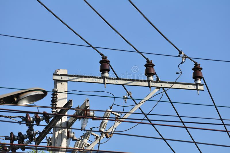High-power transmissie van de torenmacht royalty-vrije stock fotografie