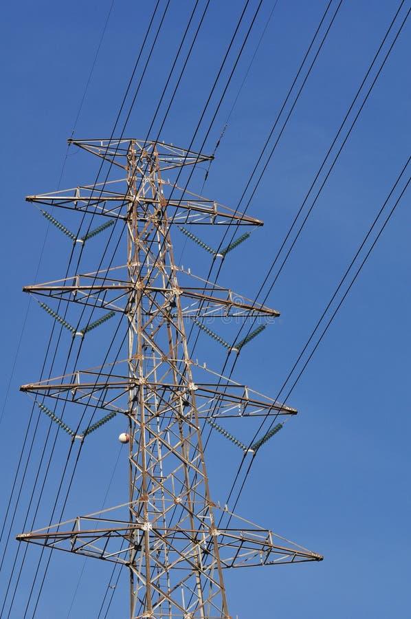 High-power transmissie van de torenmacht stock afbeelding