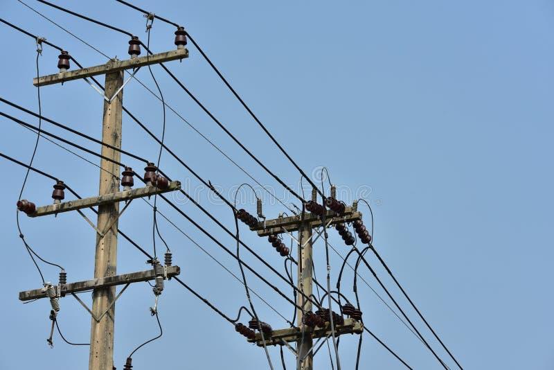 High-power transmissiesysteem van de torenmacht royalty-vrije stock fotografie