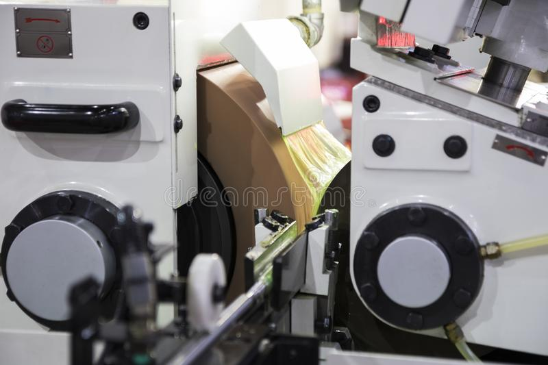 high precision centerless grinding CNC machine stock images