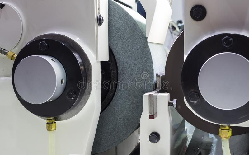high precision centerless grinding CNC machine stock image