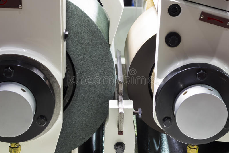 high precision centerless grinding CNC machine stock image
