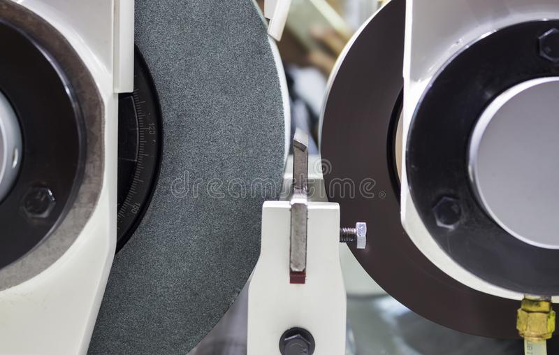 high precision centerless grinding CNC machine royalty free stock photos
