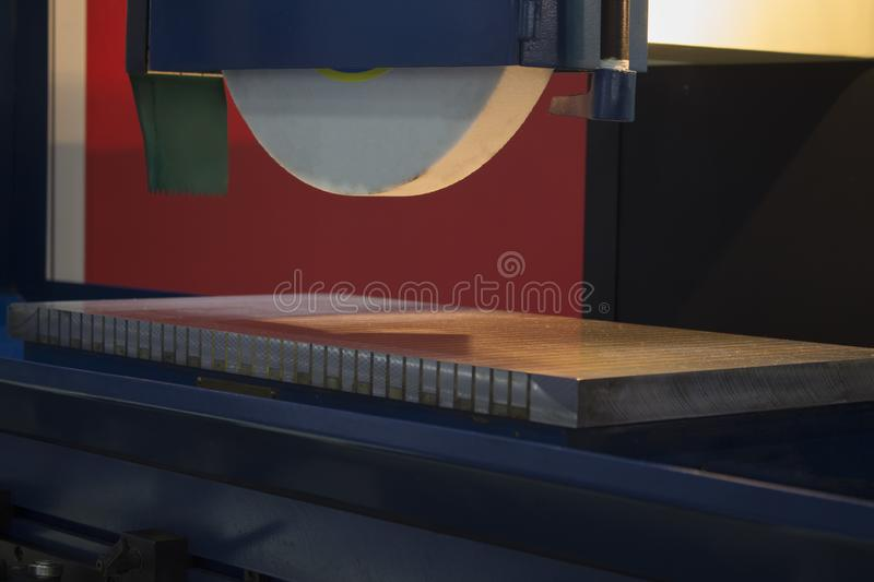 high precision horizontal grinding CNC machine royalty free stock images