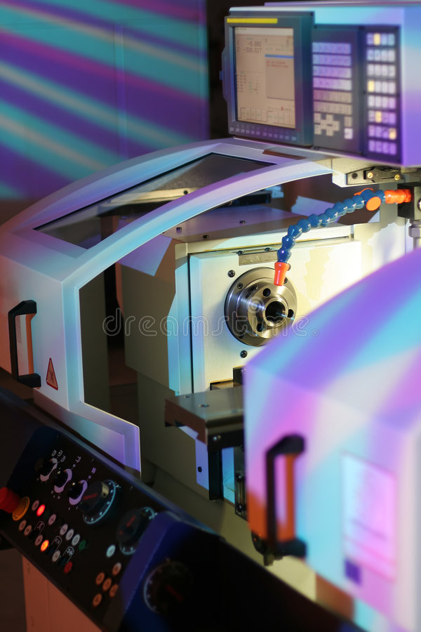 High precision lathe royalty free stock image