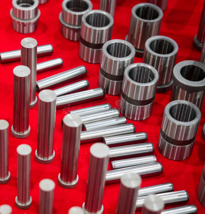 high precision maching and coating part for mold and die industrial stock images