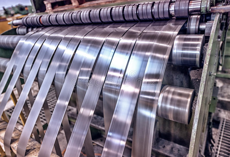 High precision sheet metal cutting machinery stock images