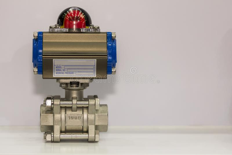High precision and technology Automatic double acting valve with flow indicator for flow and pressure control industrial work with royalty free stock images