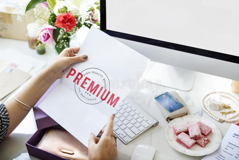 High Premium Quality Brand Concept royalty free stock photo