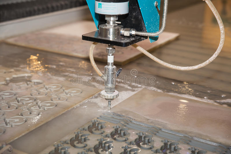 High Pressure Drill pattern. BANGKOK ,THAILAND - MAY 18:Drill pattern with high pressure machine ASEAN's Leading Industrial Machinery and Subcontracting stock photography