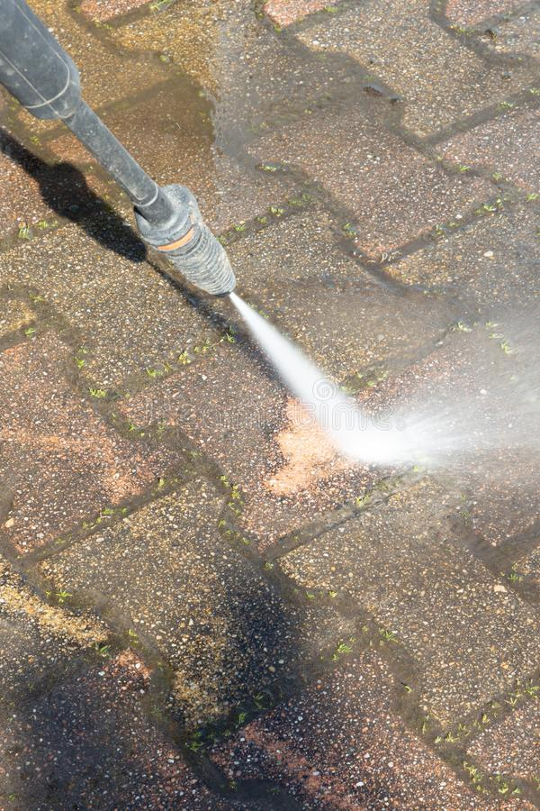 High pressure washer outdoor professional cleaning services. A high pressure washer outdoor professional cleaning services stock photos