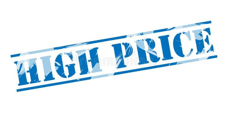 High price blue stamp. On white background vector illustration