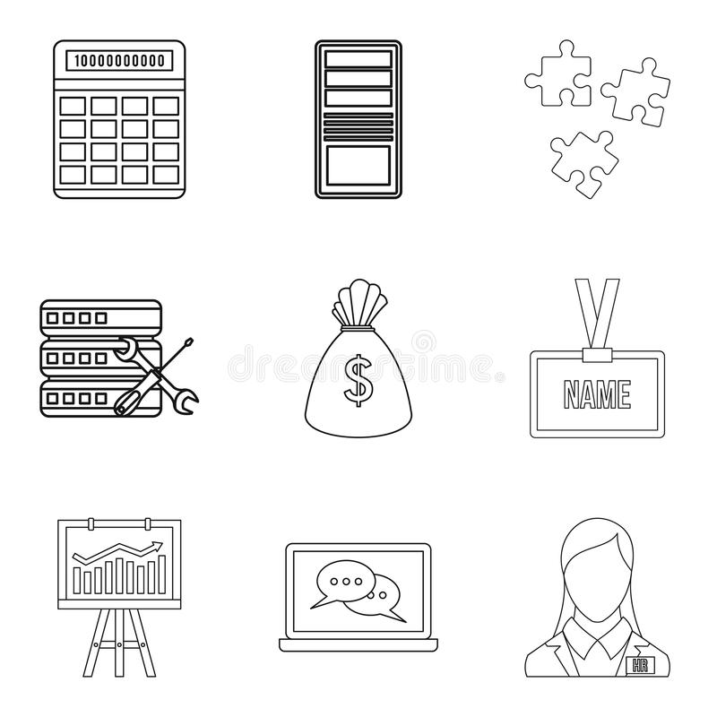 High price icons set, outline style. High price icons set. Outline set of 9 high price vector icons for web isolated on white background stock illustration