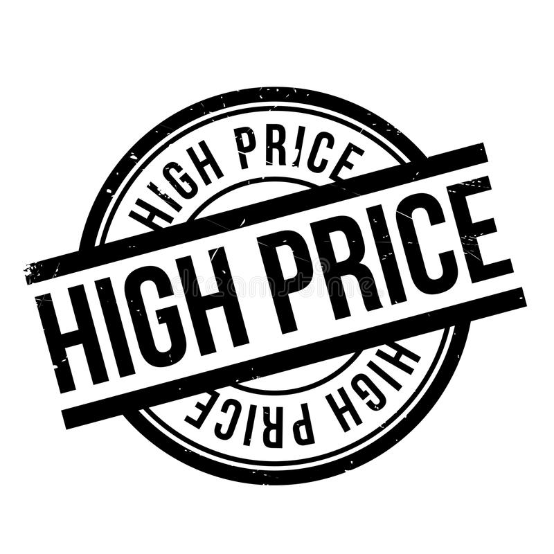 High Price rubber stamp. Grunge design with dust scratches. Effects can be easily removed for a clean, crisp look. Color is easily changed royalty free illustration