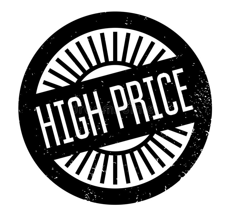 High Price rubber stamp. Grunge design with dust scratches. Effects can be easily removed for a clean, crisp look. Color is easily changed stock illustration