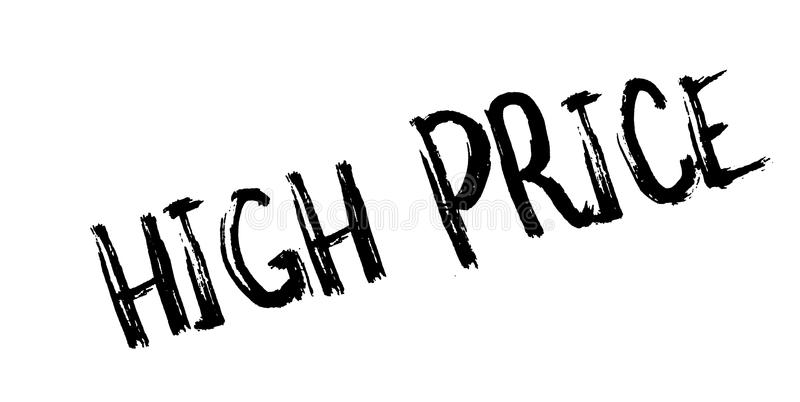 High Price rubber stamp. Grunge design with dust scratches. Effects can be easily removed for a clean, crisp look. Color is easily changed vector illustration