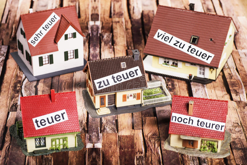 High prices for real estate stock photo