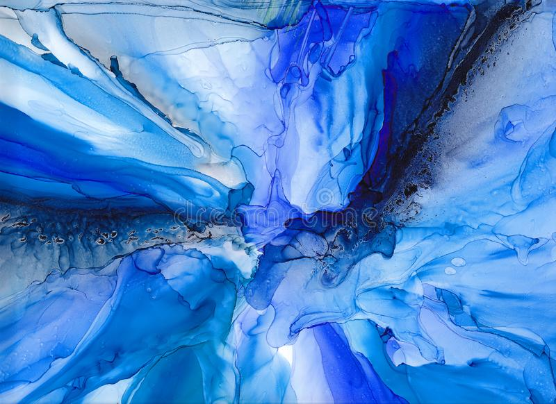 High quality . Alcohol ink modern abstract painting, contemporary details art. royalty free illustration