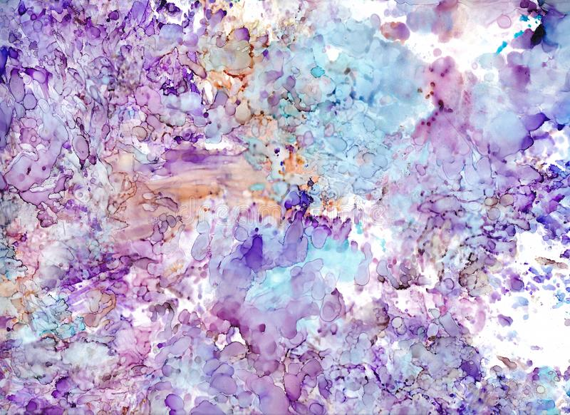 High quality . Alcohol ink modern abstract painting, contemporary details art. vector illustration